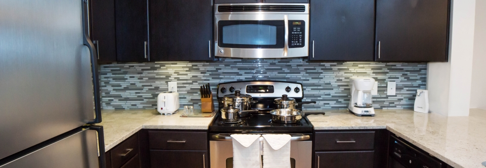 Corporate Housing - Fully Equipped Kitchens