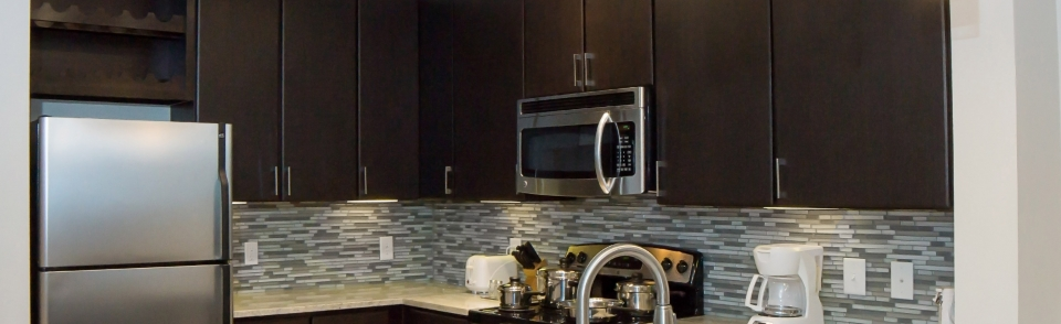 Enjoy Home Cooked Meals in your Fully Equipped Kitchen